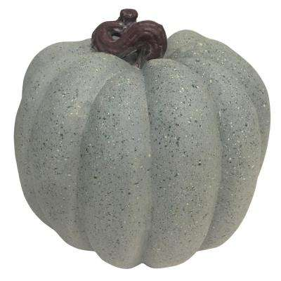 8.5 in. Harvest Pumpkin in Gray