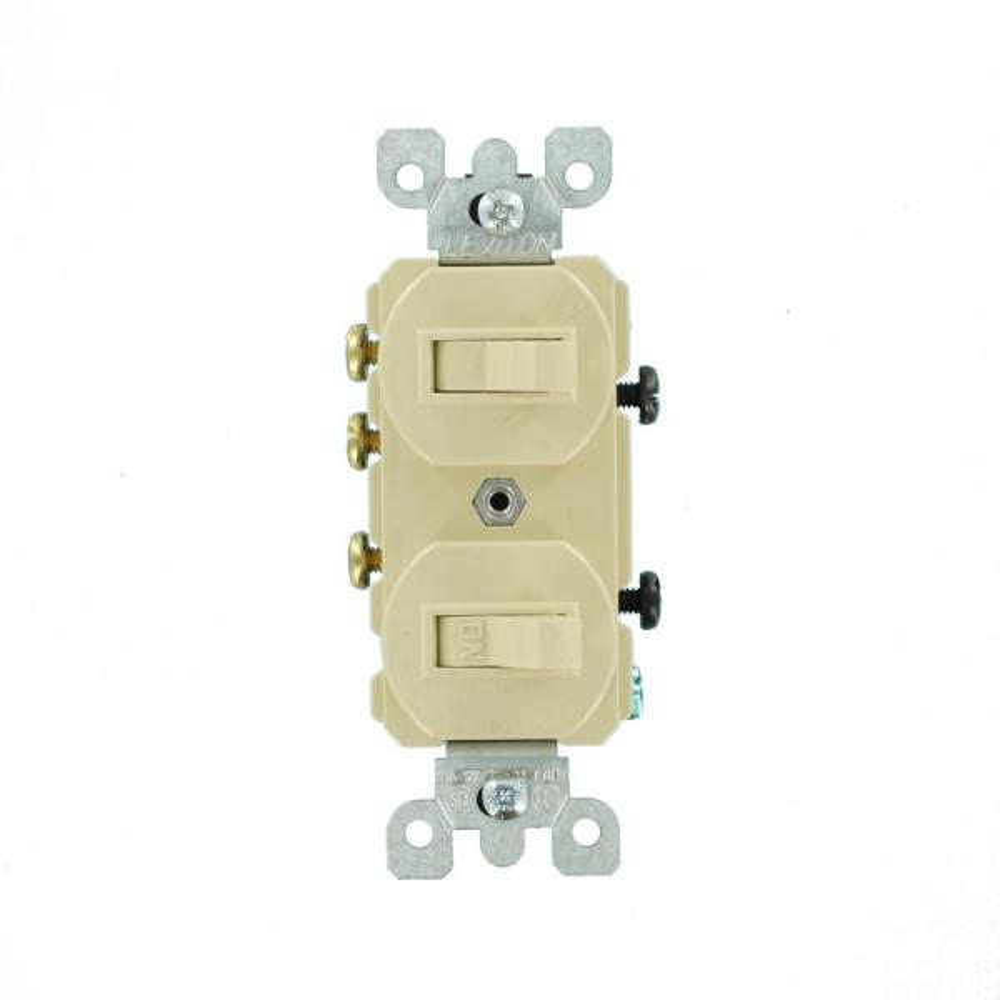leviton 15 amp duplex style singlepole / 3way ac