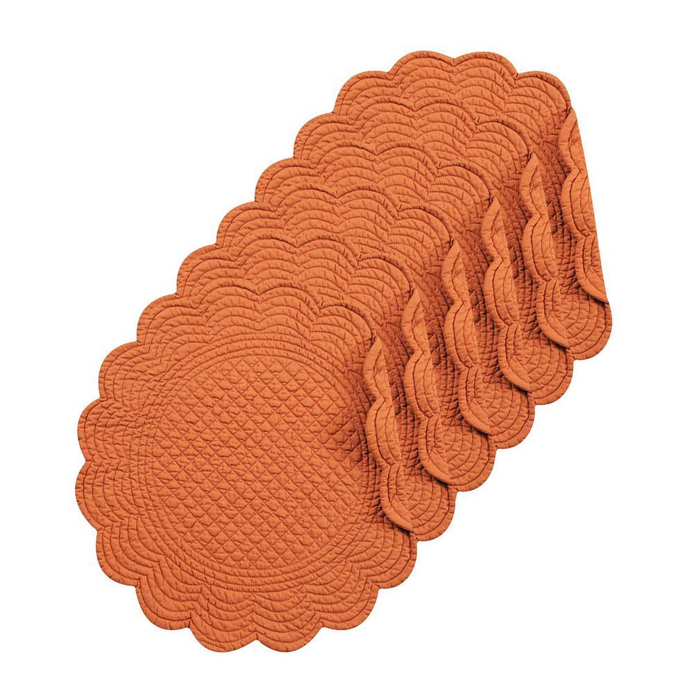 Spice Round Orange Placemat (Set of 6)