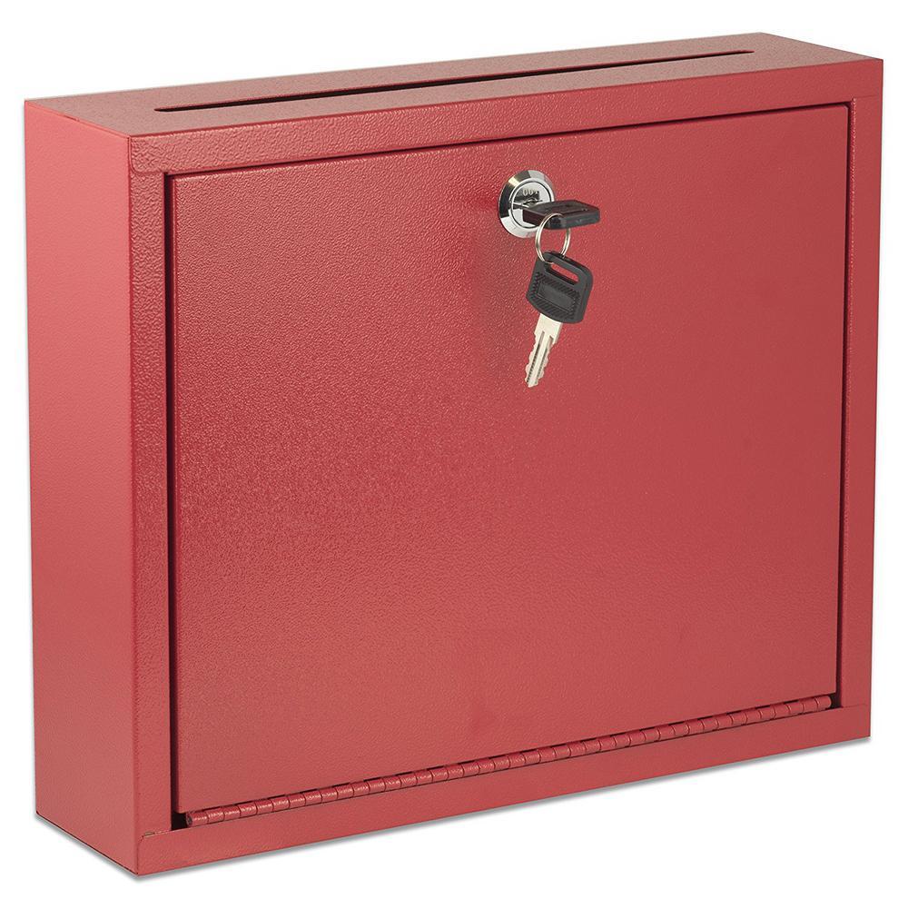 Large Size Red Steel Multi-Purpose Drop Box