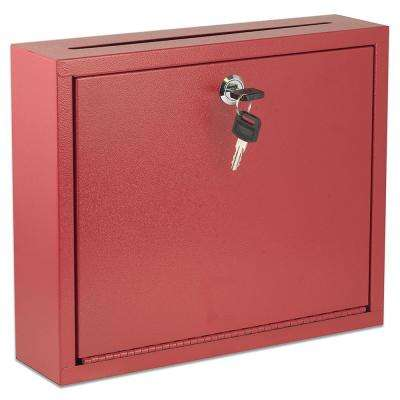Large Size Red Steel Multi-Purpose Drop Box