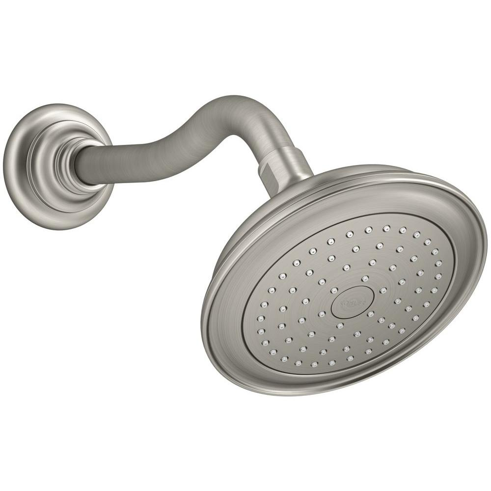 KOHLER Artifacts 1-Spray 5.5 in. Fixed Showerhead with Katalyst ...