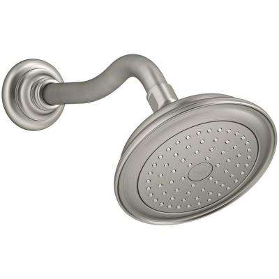 Artifacts 1-Spray 5.5 in. Fixed Showerhead with Katalyst Spray in Vibrant Brushed Nickel