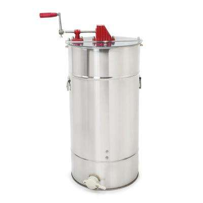 36.2 in. x 16.2 in. x 16.2 in. Large 2 Frame Stainless Steel Honey Extractor Tank