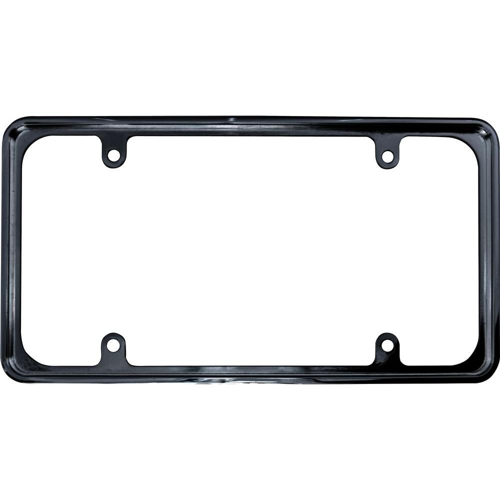 Recessed Metal License Plate Frame In Black 92810 The