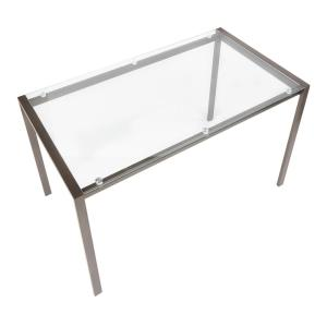 Lumisource Fuji Antique Metal Dining Table With