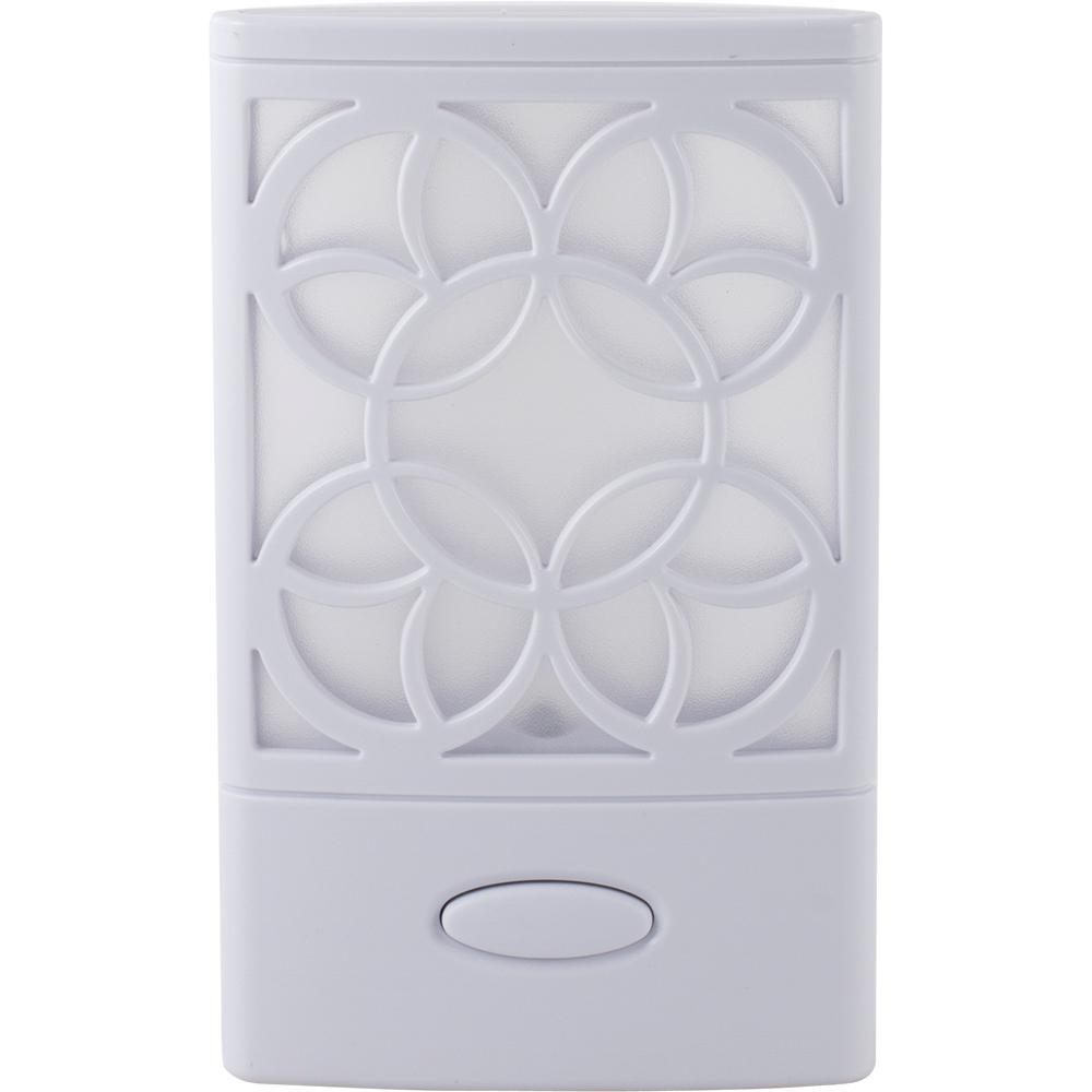 Decorative Power Failure Plastic Night Light, White