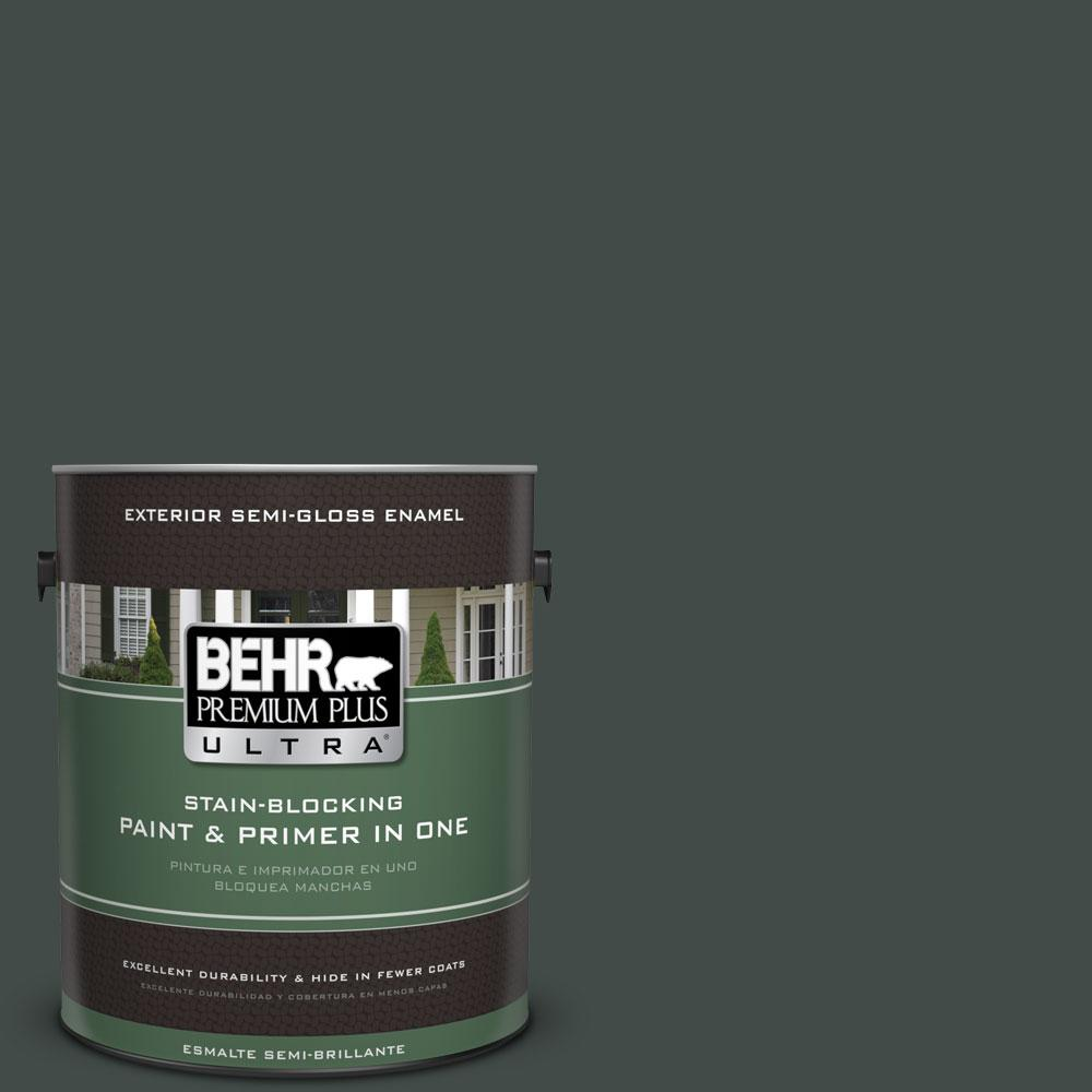 BEHR Premium Plus Ultra Home Decorators Collection 1-gal. #HDC-CL-21 Sporting Green Semi-Gloss Enamel Exterior Paint