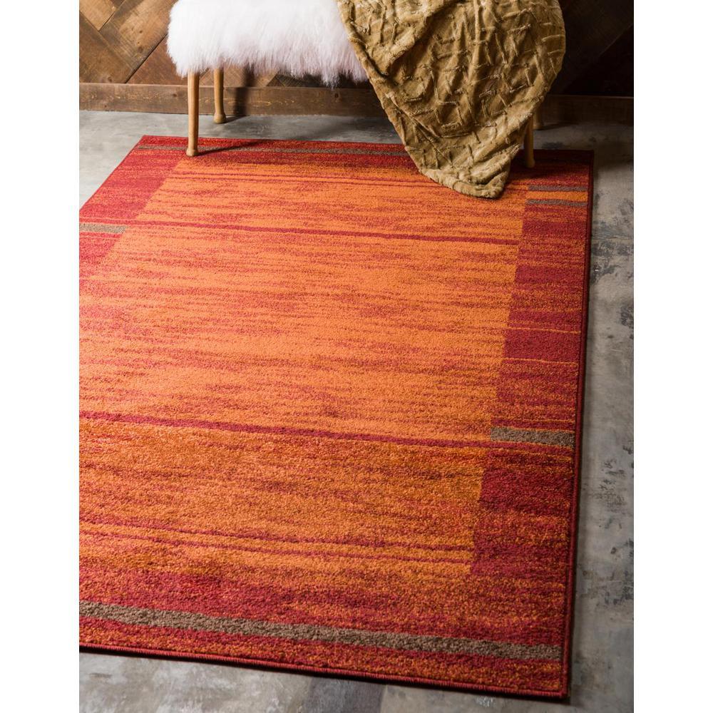 Unique Loom Autumn Foilage Terracotta 5 0 X 8 0 Area Rug 3138243 The Home Depot