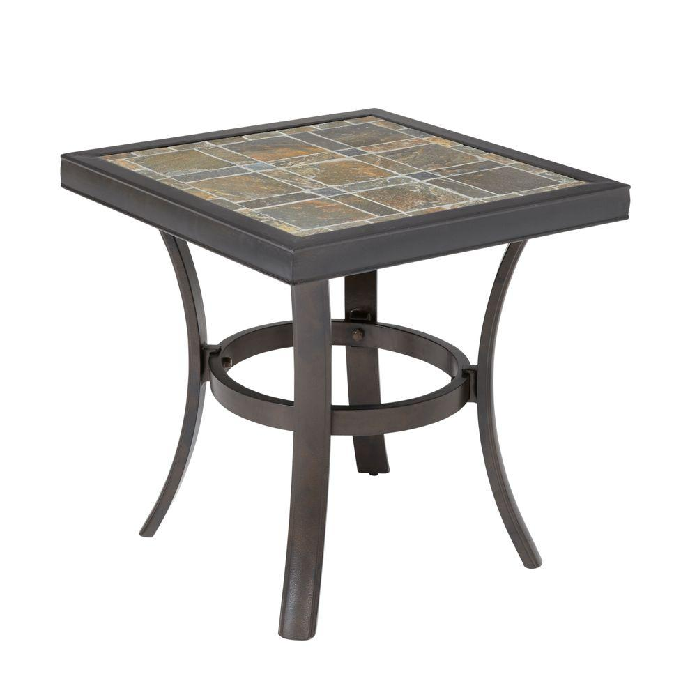 Hampton Bay Kennett 18.5 in. Patio Side Table-DISCONTINUED