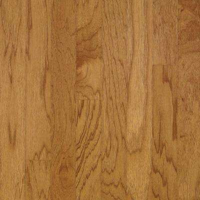 Take Home Sample - Hickory Autumn Wheat Engineered Click Lock Hardwood Flooring - 5 in. x 7 in.