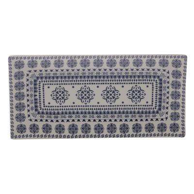 Blue Antico Ceramic Rectangular Platter