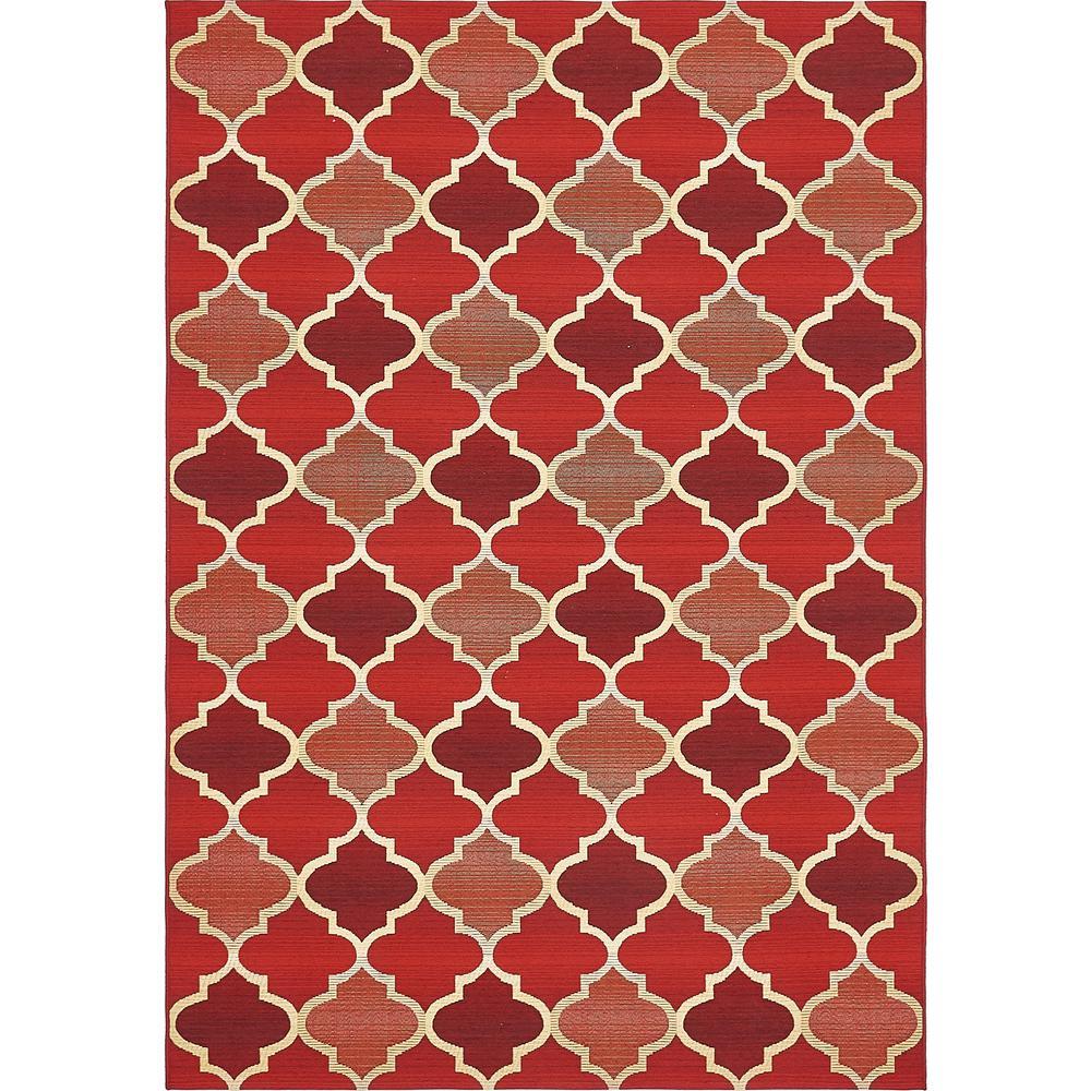 Outdoor Eden Trellis Red 5' 3 x 8' 0 Area Rug
