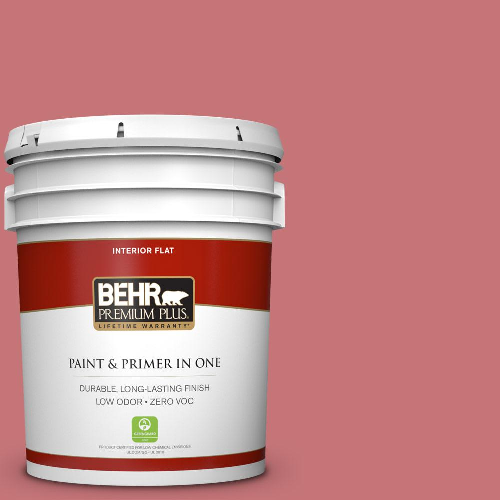 5 gal. #140D-5 Rose Chintz Zero VOC Flat Interior Paint