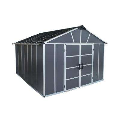 Yukon 11 ft. W x 12 ft. D x 8.3 ft. H Dark Gray Storage Shed