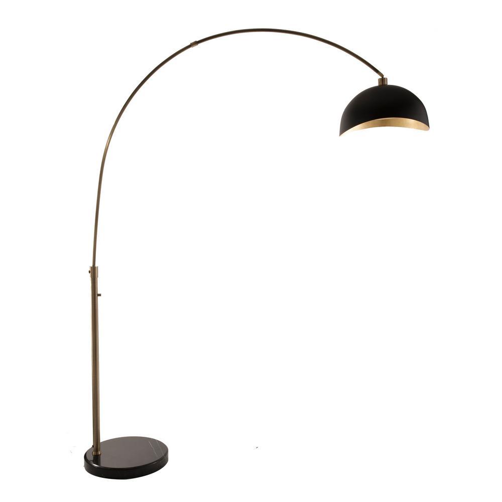 Luna Bella 88 in. Weathered Brass Arc Lamp