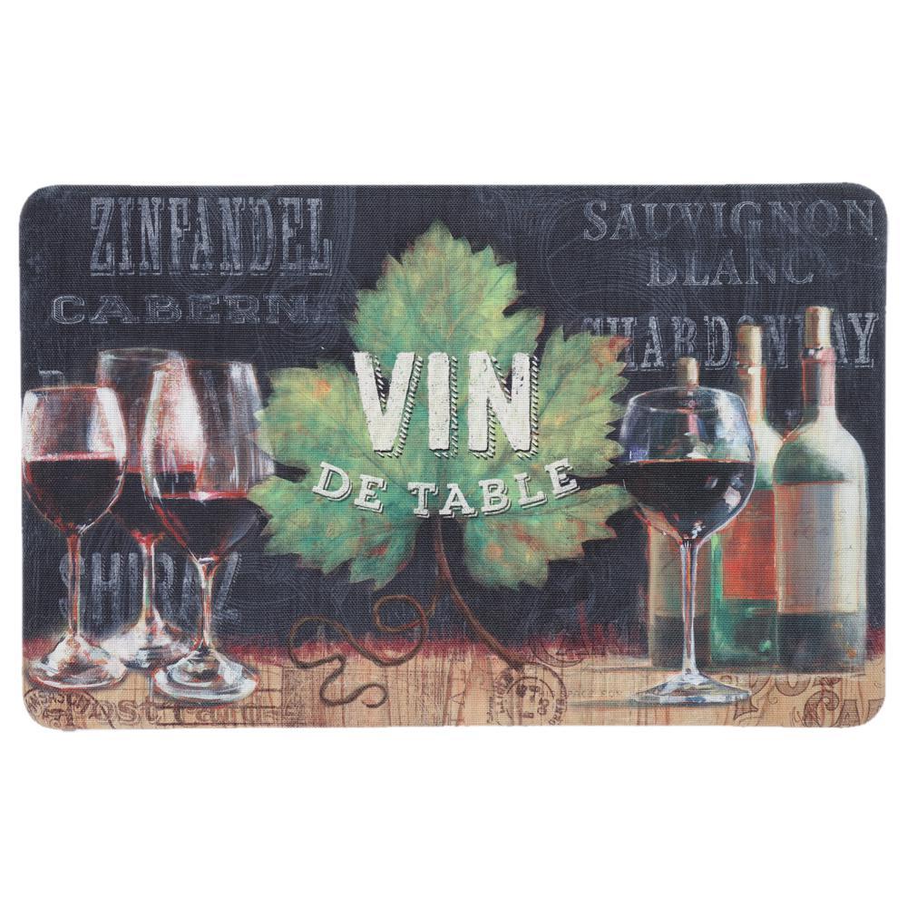 Vin De Table Multi 18 in. x 30 in. Kitchen Mat