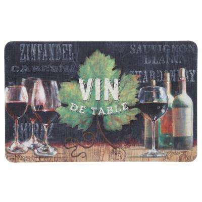 Vin De Table Multi 18 in. x 30 in. Kitchen Mat