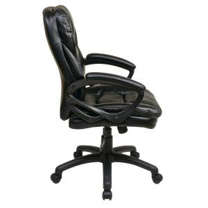 internet 205898336 work smart black faux leather manager office chair