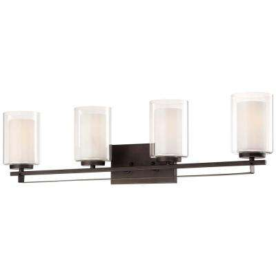 Parsons Studio 4-Light Smoked Iron Bath Light