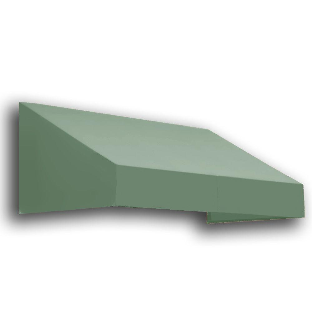 AWNTECH 4 ft. New Yorker Window/Entry Awning (24 in. H x 42 in. D) in Olive