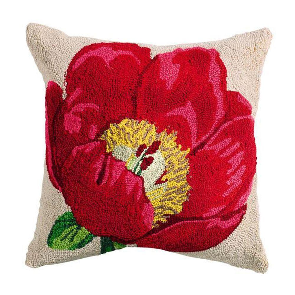 Home Decorators Collection Hooked Flower Pillow