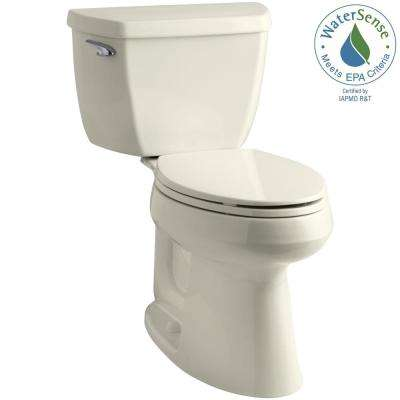 Highline Classic the Complete Solution 2-Piece 1.28 GPF Single Flush Elongated Toilet in Biscuit