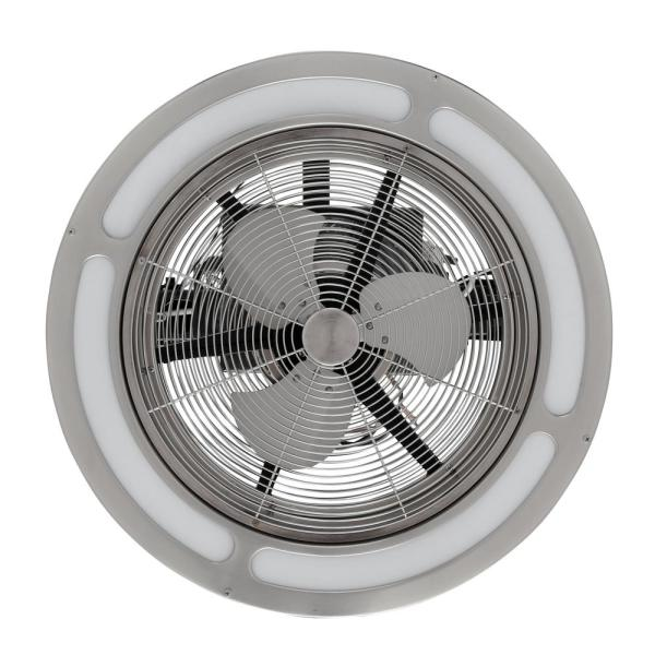 Home Decorators Collection Brette 23 in LED Indoor//Outdoor Brushed Nickel Ceiling Fan