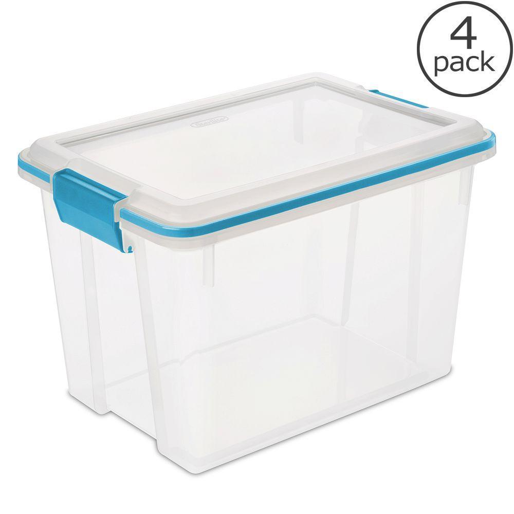 Sterilite 20-Qt. Gasket Box (4-Pack)-19324306