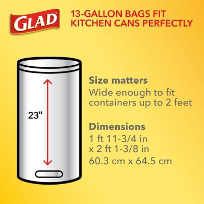 13 Gal. Tall Kitchen Drawstring Clear Trash or Recycling Bags (45-Count)