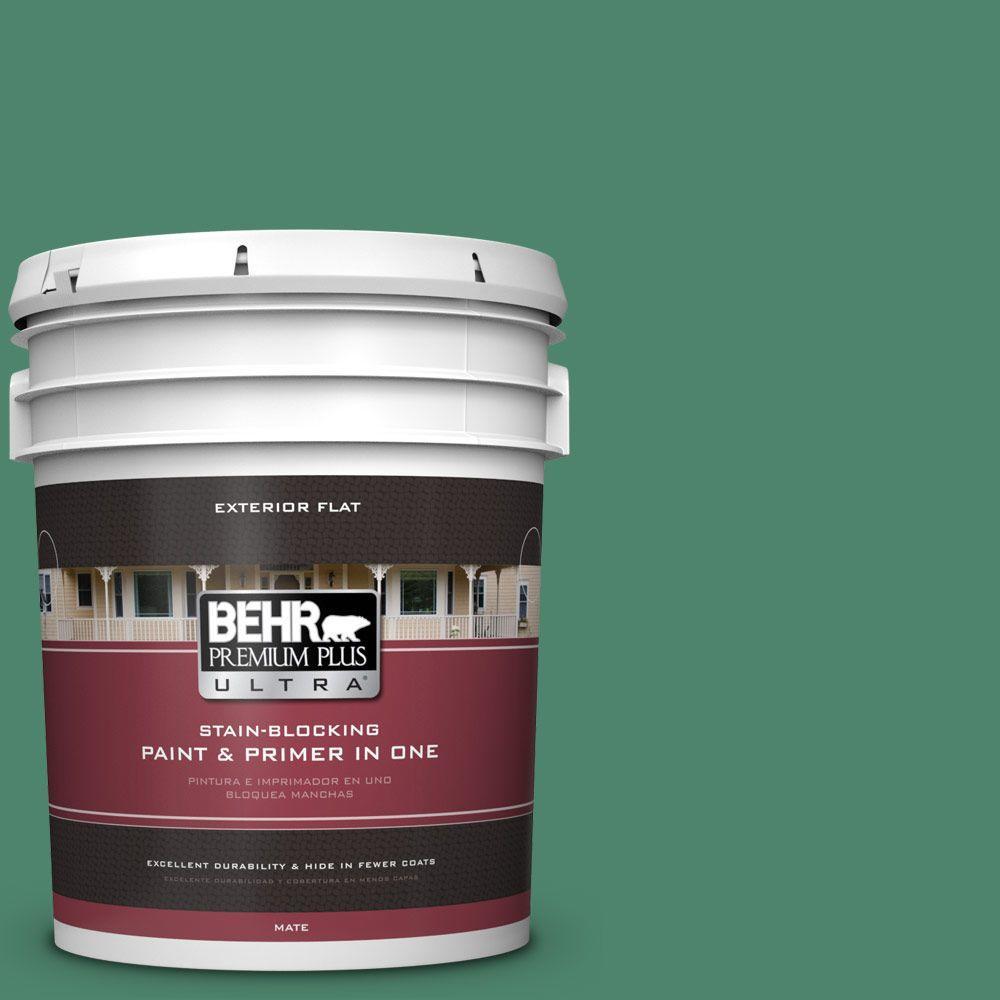 BEHR Premium Plus Ultra 5-gal. #480D-6 Billiard Room Flat Exterior Paint