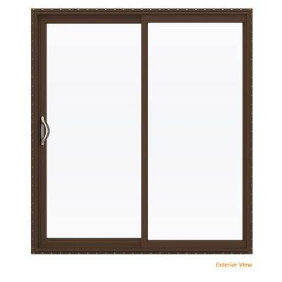 Vinyl patio doors exterior doors the home depot v 2500 brown painted vinyl left hand planetlyrics Image collections