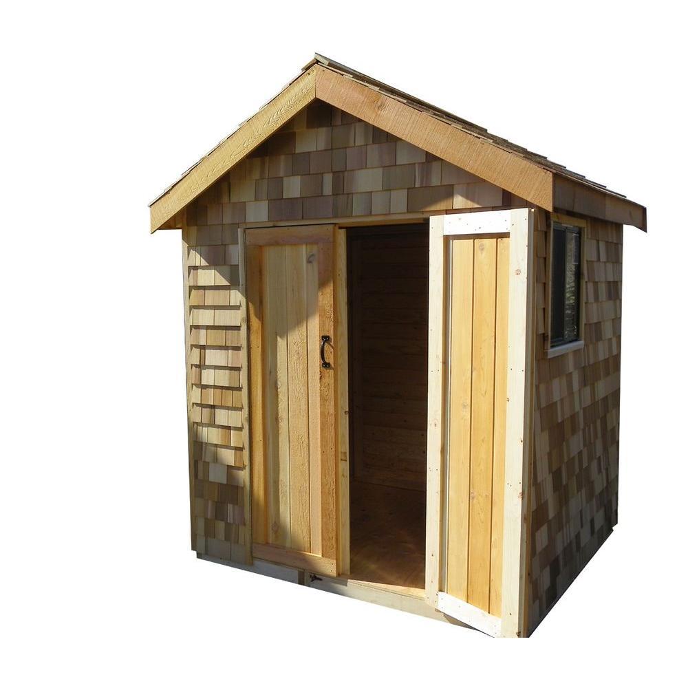 Greenstone 6 ft. x 6 ft. EZ-Build Shed Kit with Prefab Panels