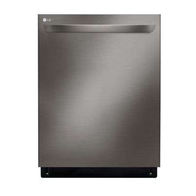 24 in. Top Control Built-In Tall Tub Smart Dishwasher in Black Stainless Steel w/ QuadWash, SmartThinQ, 3rd Rack, 46 dBA