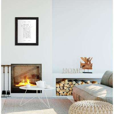 "19.25 in. W x 23.25 in. H ""What I Love Most"" by KLB Framed Printed Wall Art"