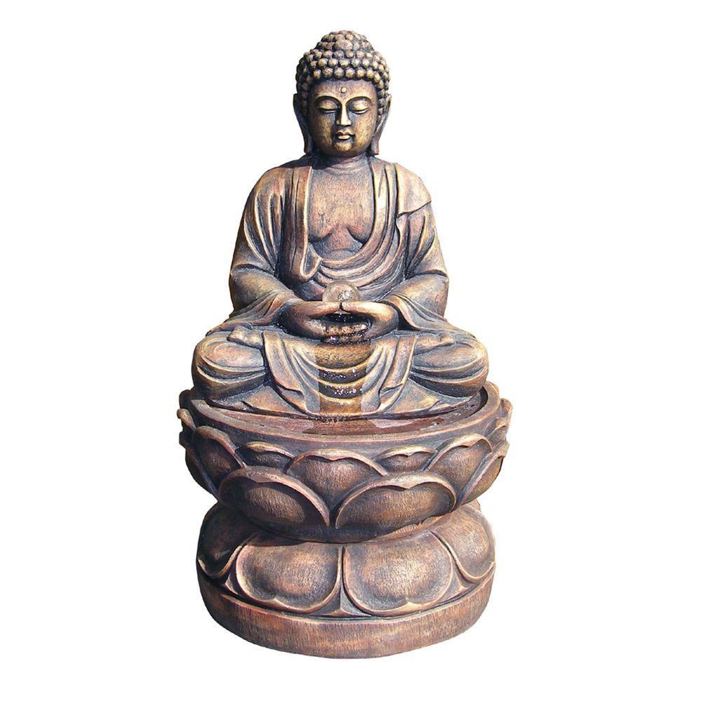 29 in. Large Buddha Fountain