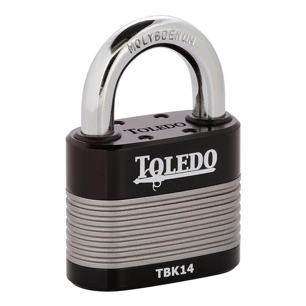 Toledo Black Series 2.5 inch High Security Armored Steel Laminated Padlock by Toledo Black Series