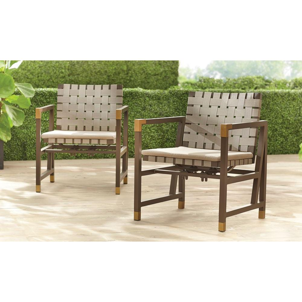 Brown Jordan Form Patio Motion Dining Chair In Sparrow (2 Pack)