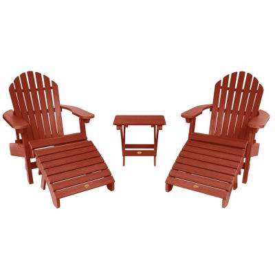 Hamilton Rustic Red 3-Piece Recycled Plastic Outdoor Conversation Set