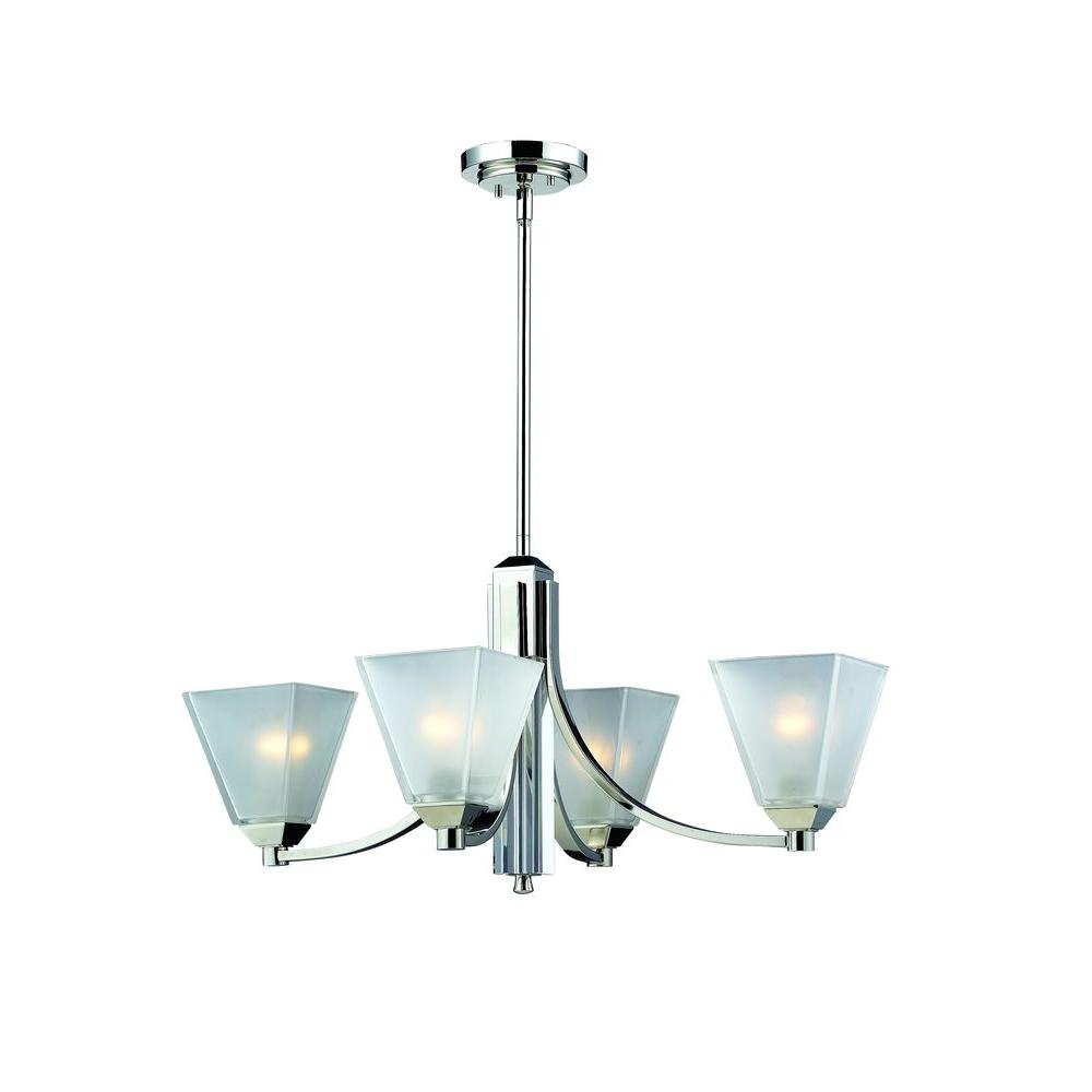 Tulen Lawrence 4-Light Chrome Incandescent Ceiling Chandelier