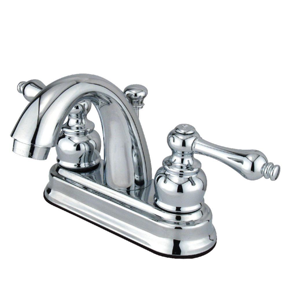 Restoration 4 in. Centerset 2-Handle Bathroom Faucet in Chrome