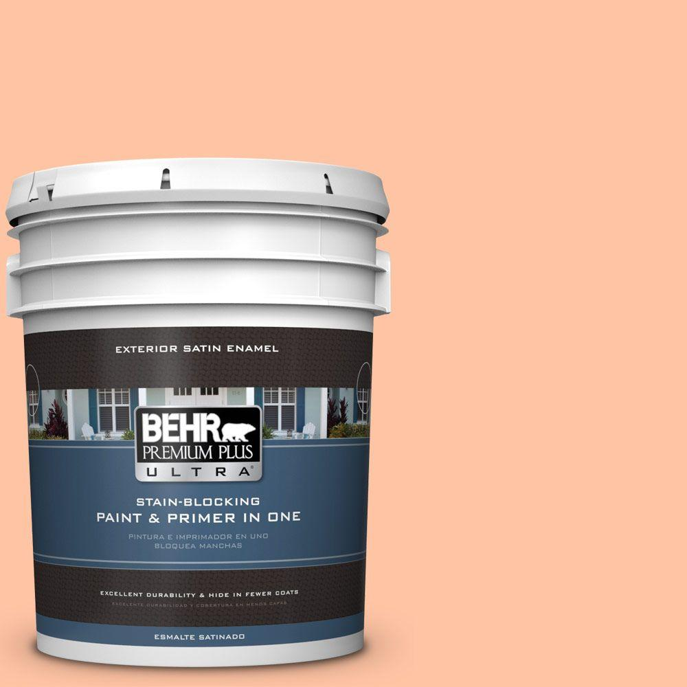 5-gal. #240A-3 Bright Citrus Satin Enamel Exterior Paint
