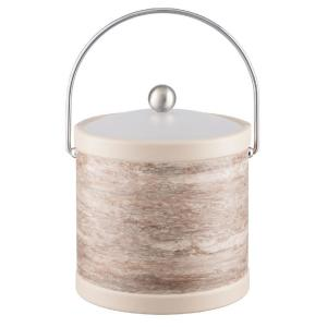 Quarry Smoke Stone 3 Qt. Ice Bucket with Bale Handle and Acrylic Lid