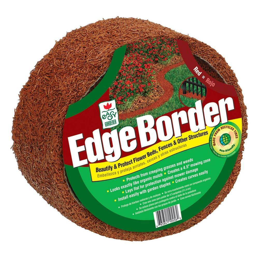 Easy Gardener 10 ft. Red Rubber Edge Border-DISCONTINUED