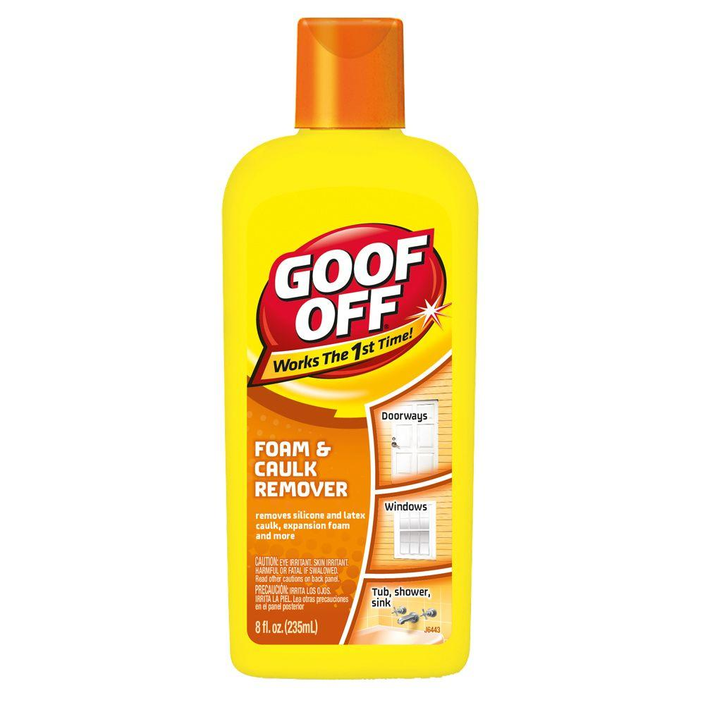 goof off 8 oz foam and caulk remover fg675 the home depot. Black Bedroom Furniture Sets. Home Design Ideas