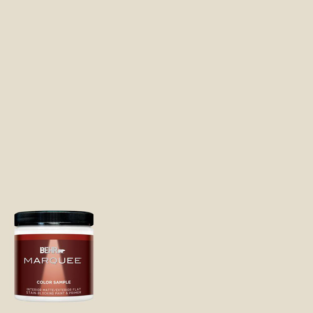 BEHR MARQUEE 8 oz. #MQ3-40 Varnished Ivory Matte Interior/Exterior Paint and Primer Sample