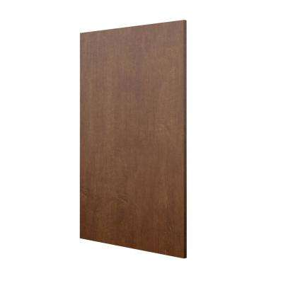 0.625x34.5x23.7 in. Base End Panel in Spice