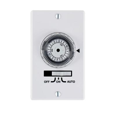 20 Amp 24-Hour Indoor In-Wall Heavy-Duty Mechanical Timer, White