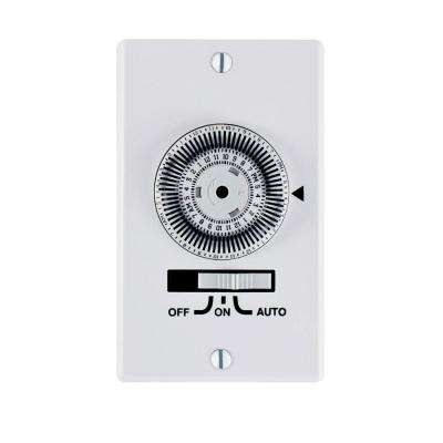 20 Amp Heavy Duty In-Wall Timer, White
