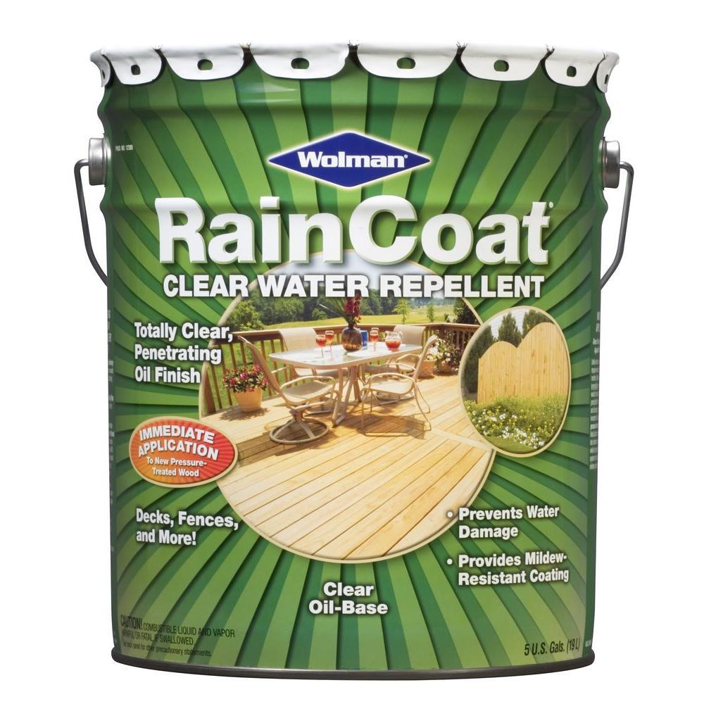 Wolman 5 Gal Raincoat Clear Oil Based Water Repellent